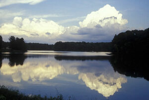 The lake at Red Hills State Park