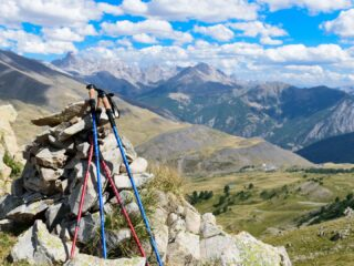 Trekking Poles for mountain hiking