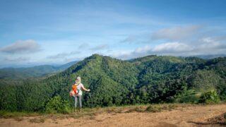 Women with trekking poles