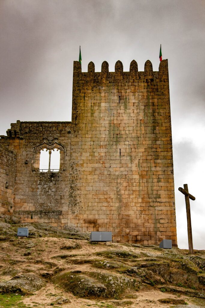 The castle at the charming small town of Belmonte in Portugal