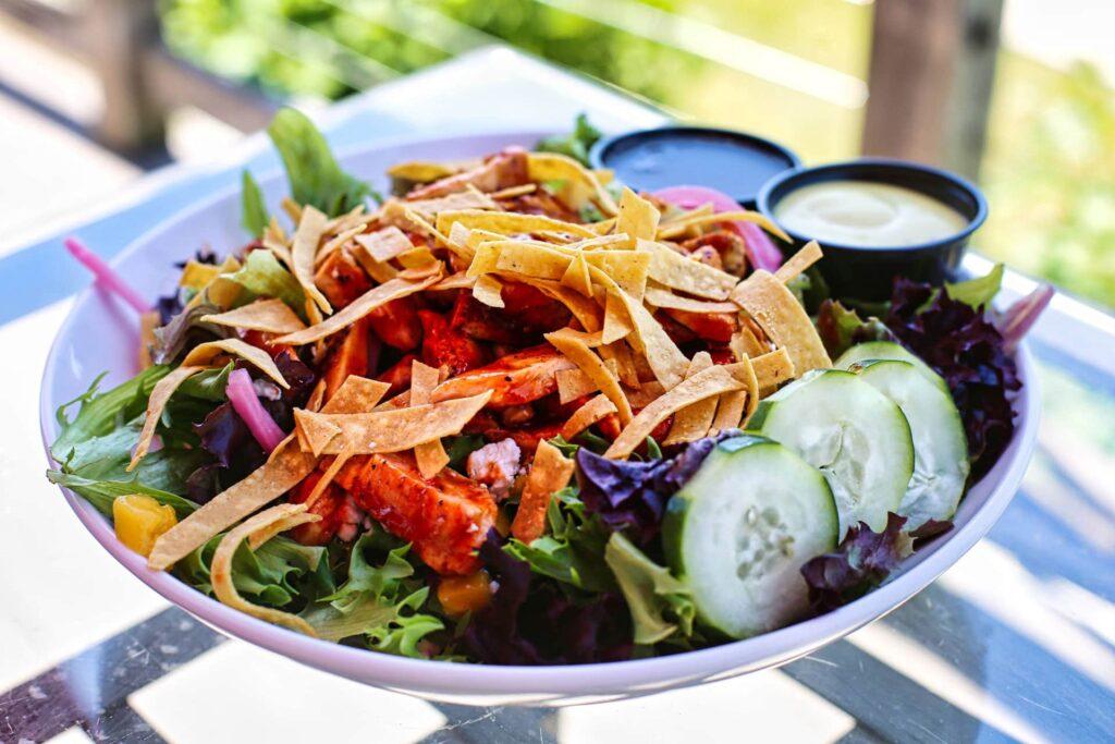 Huli Huli Chicken Salad  at the Red Dog Grill