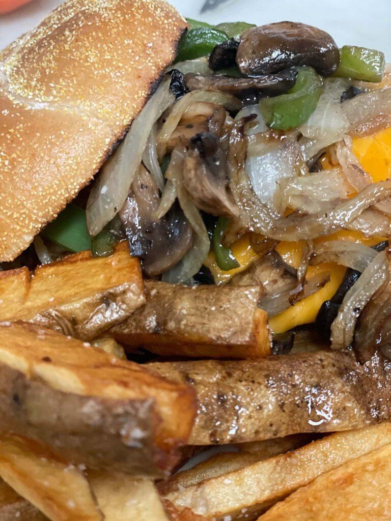 Mark Allen's Philly burger