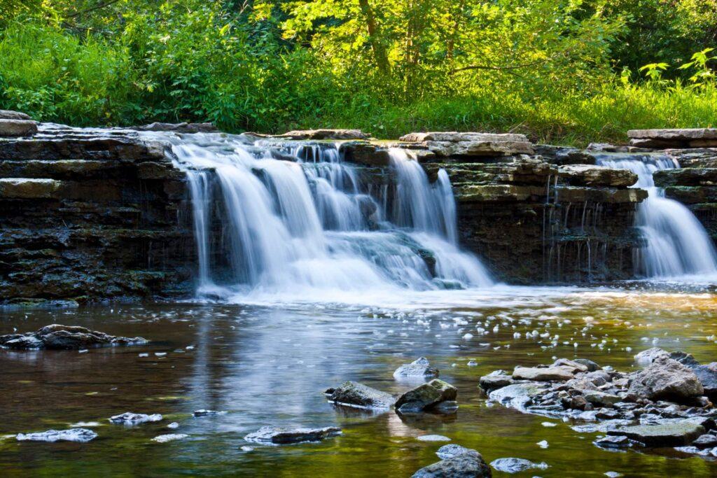 Rocky Glen waterfall at Waterfall Glen Forest Preserve