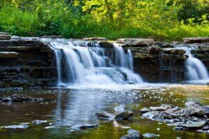 Rocky Glen waterfall at Waterfall Glen
