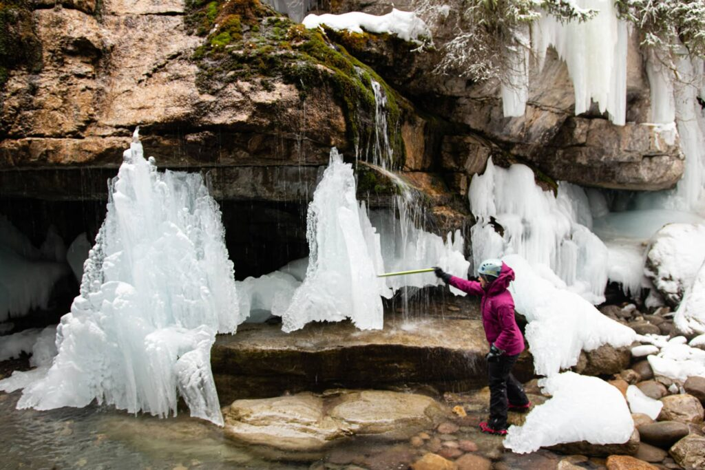 The tour guide of our Maligne Canyon Ice Walk in Jasper