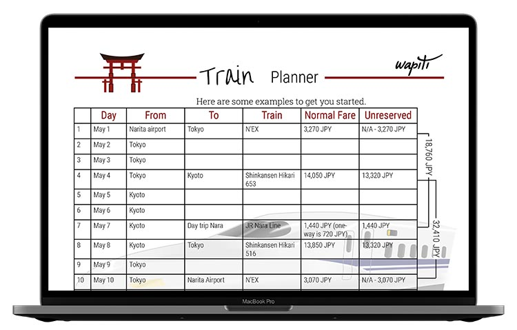 Japan Train Planner by Wapiti Travel